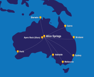 Map  sourced from www.alicespringsairport.com